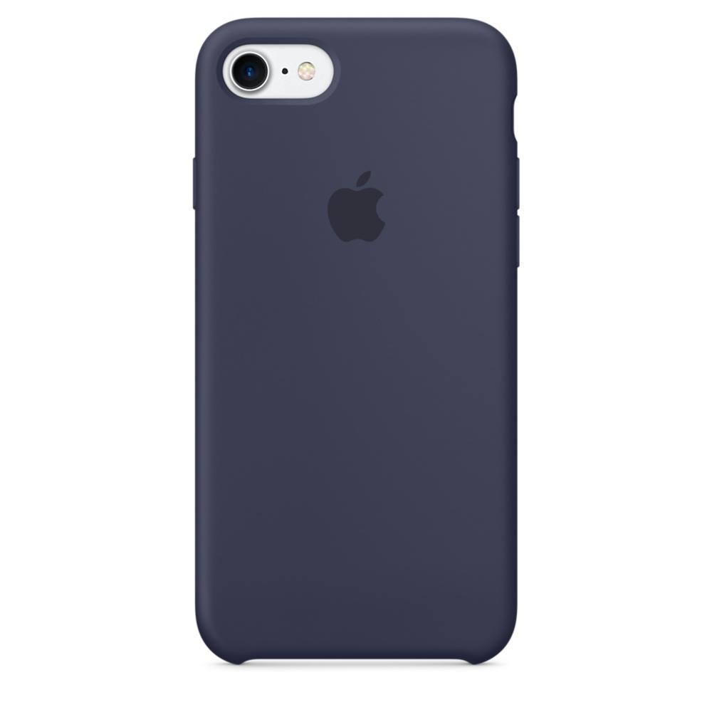 Husa Apple Silicone Case pentru iPhone 7 Midnight Blue