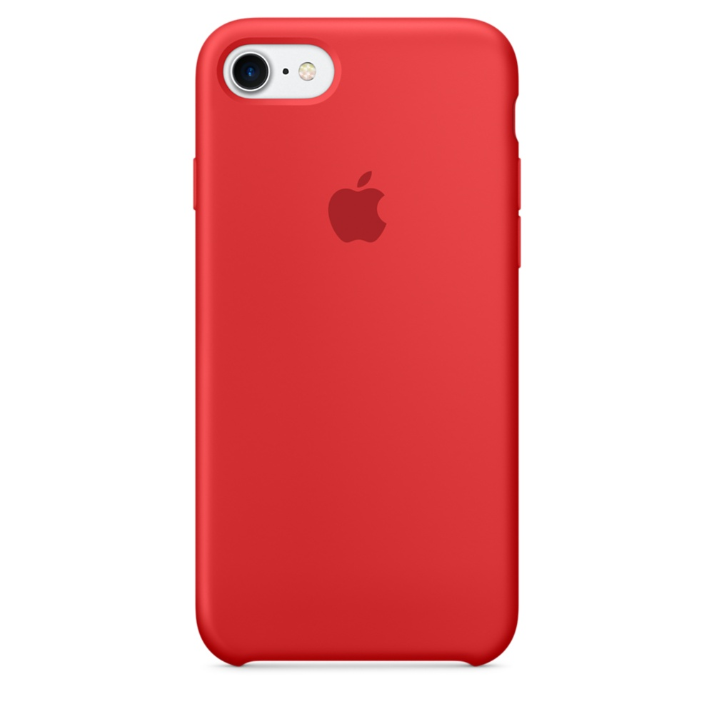 Husa Apple Silicone Case pentru iPhone 7 Red