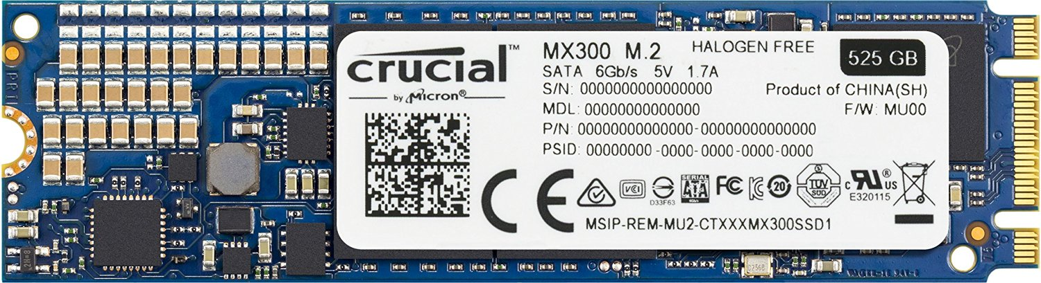 Hard Disk SSD Crucial MX300 525GB M.2 2280