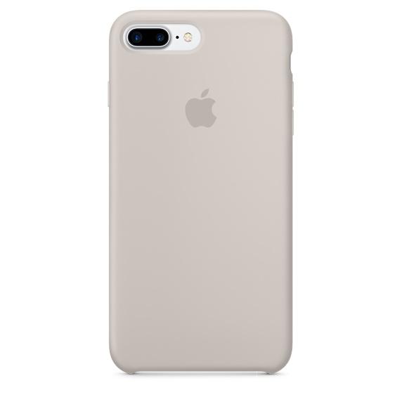 Husa Apple Silicone Case pentru iPhone 7 Plus Stone