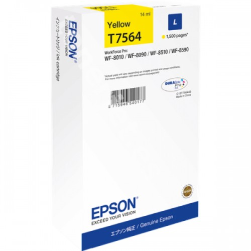 Cartus inkjet Epson T756440 Yellow Size L