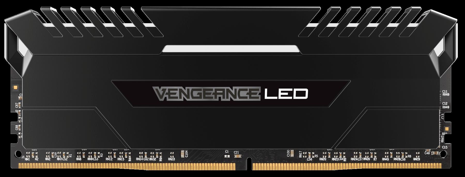 Memorie Desktop Corsair Vengeance LED 32GB (2 x 16GB) DDR4 3000MHz White