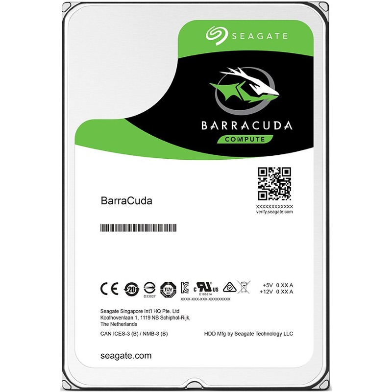 Hard Disk Notebook Seagate BarraCuda 1TB 5400RPM 128MB SATA III