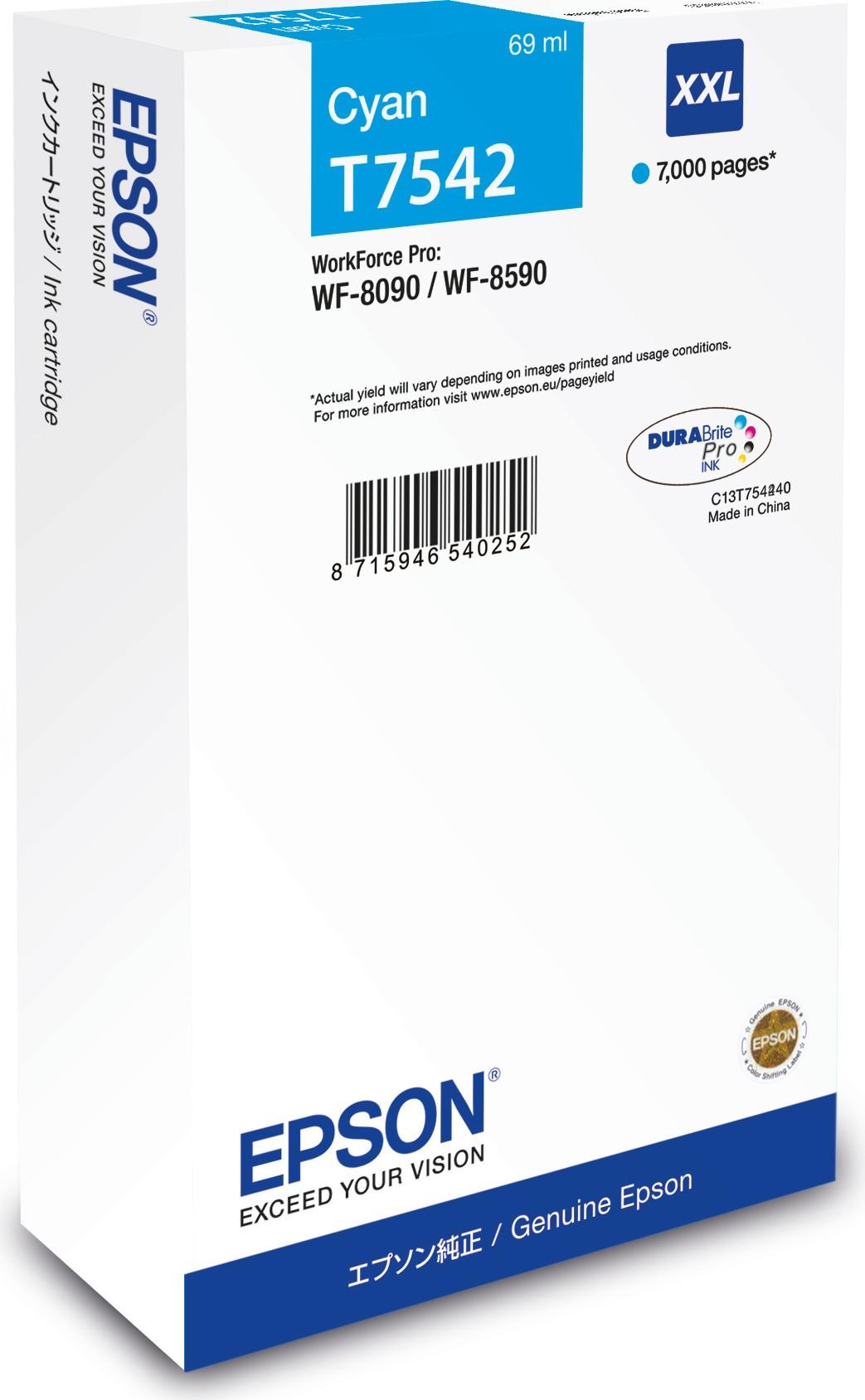 Cartus inkjet Epson T7542 XXL Cyan