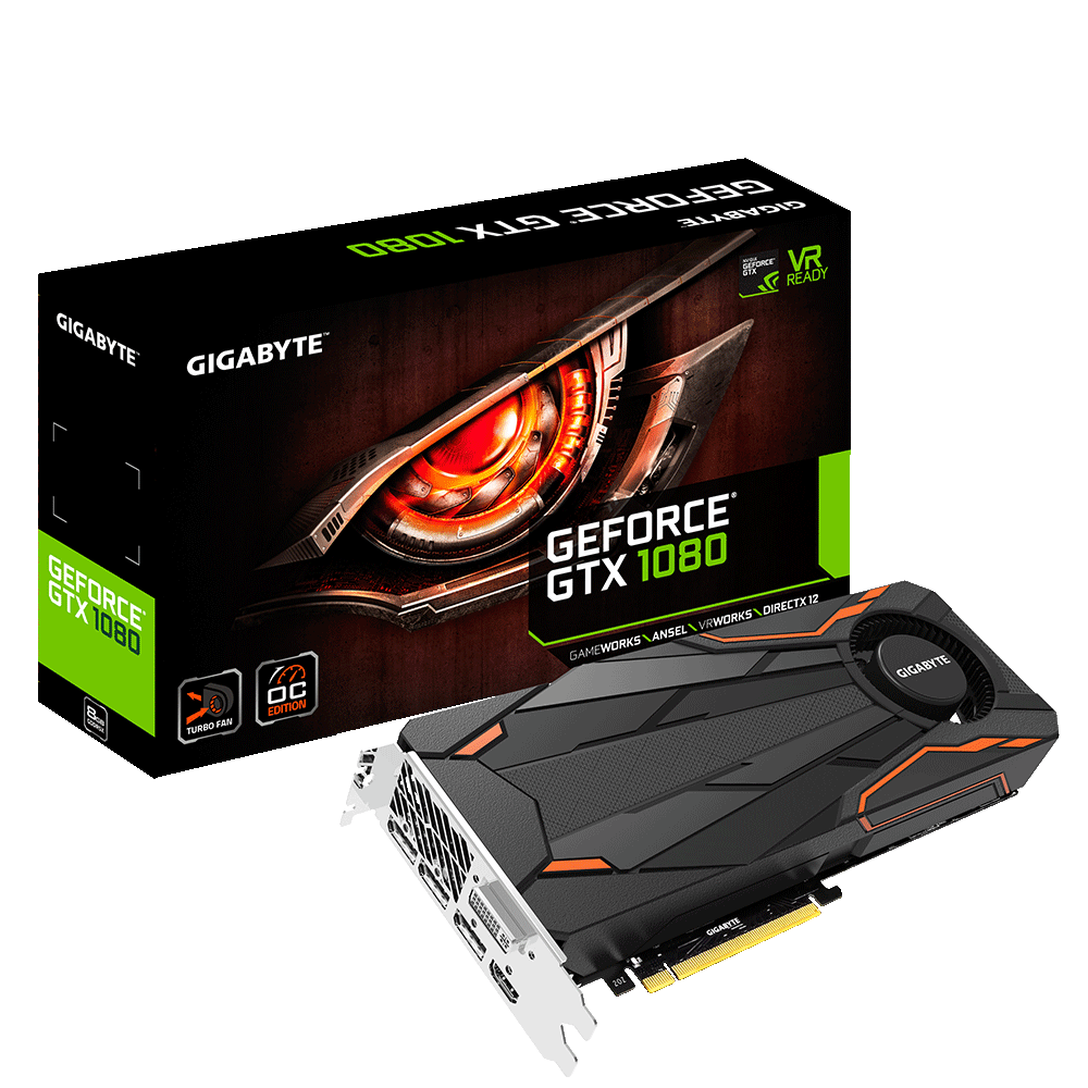 Placa Video Gigabyte nVidia GeForce GTX 1080 Turbo OC 8GB GDDR5X 256 biti