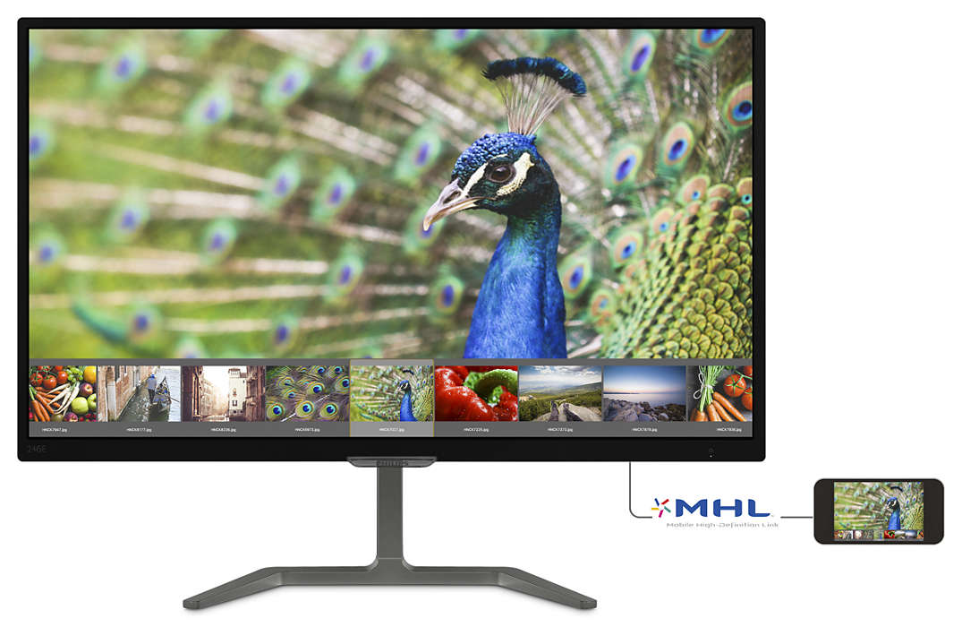 Monitor LED Philips 246E7QDAB 23.6 Full HD 5ms HDMI DVI VGA Negru
