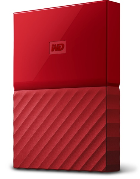 Hard Disk Extern Western Digital My Passport 3TB USB 3.0 Rosu