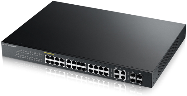 Switch ZyXEL GS1920-24HP 24-port GbE Smart Managed PoE 4x GbE combo (RJ45/SFP)