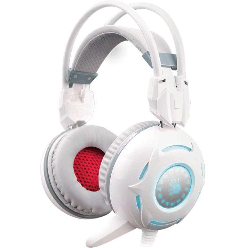 Casti cu microfon A4-Tech Bloody G300 White
