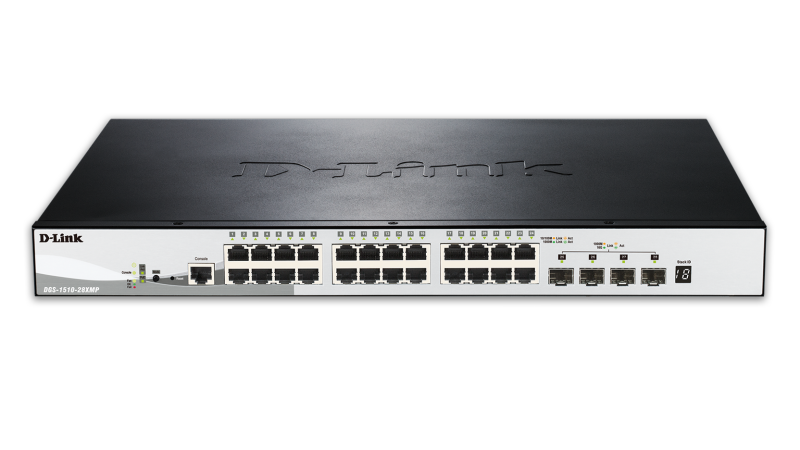 Switch D-link DGS-1510 Smart Managed PoE 24x1G 4x10G SFP+