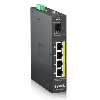 Switch ZyXEL RGS100-5P 4xGbE 1xSFP PoE+ fara management