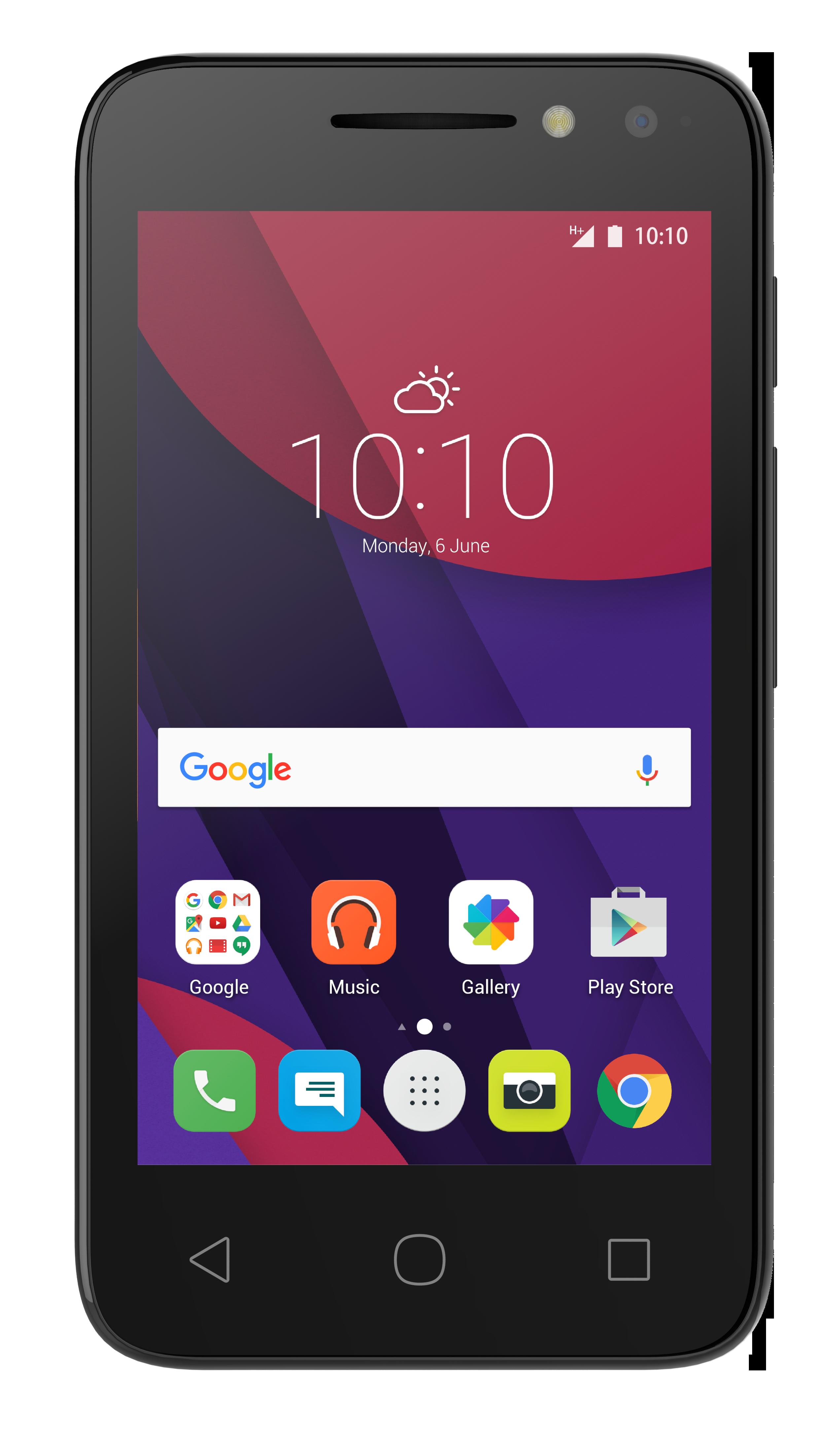 Telefon Mobil Alcatel Pixi 4 4034D 4GB Flash Dual SIM 3G Volcano Black