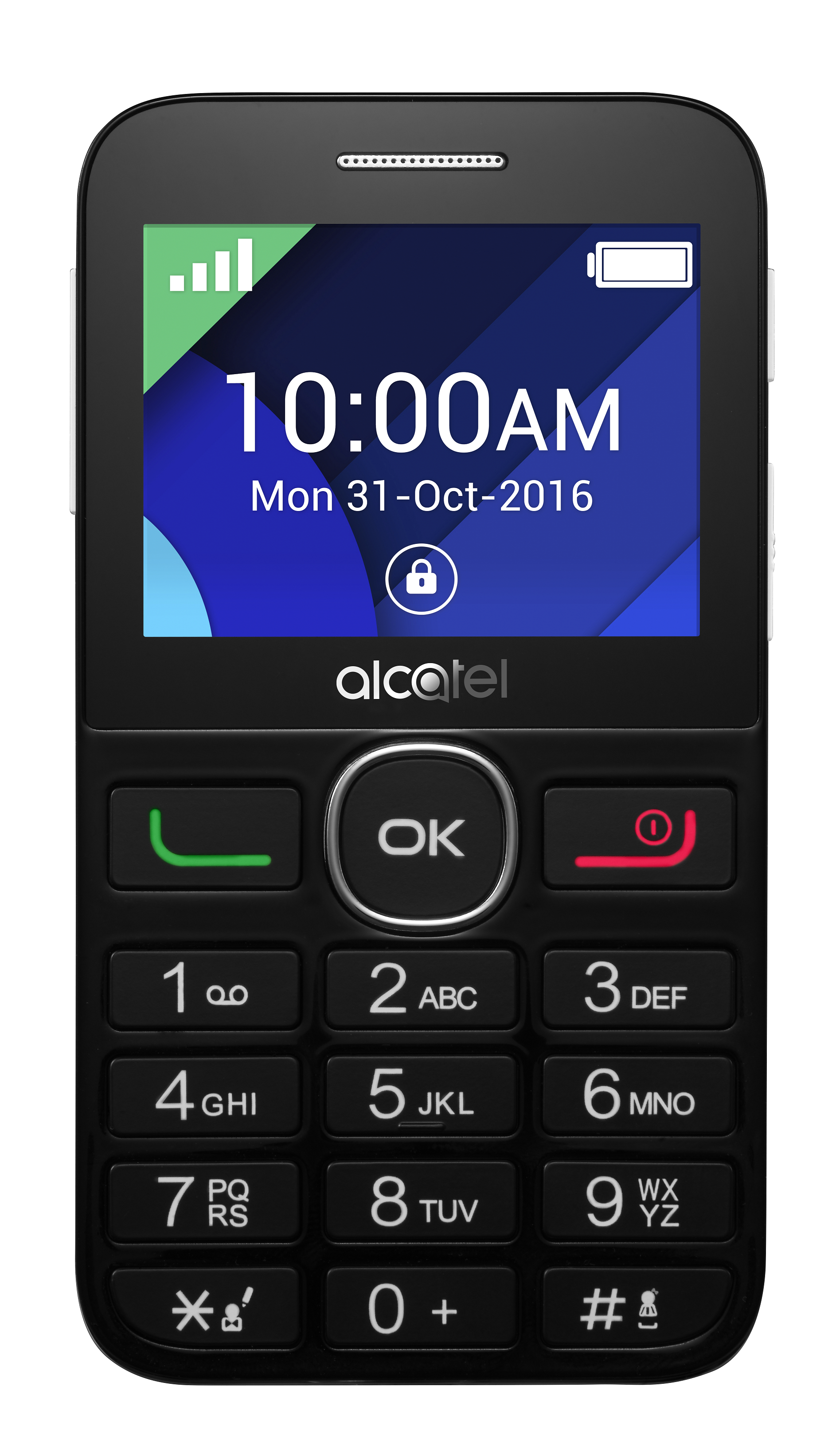 Telefon Mobil Alcatel 2008G Single SIM Black/White