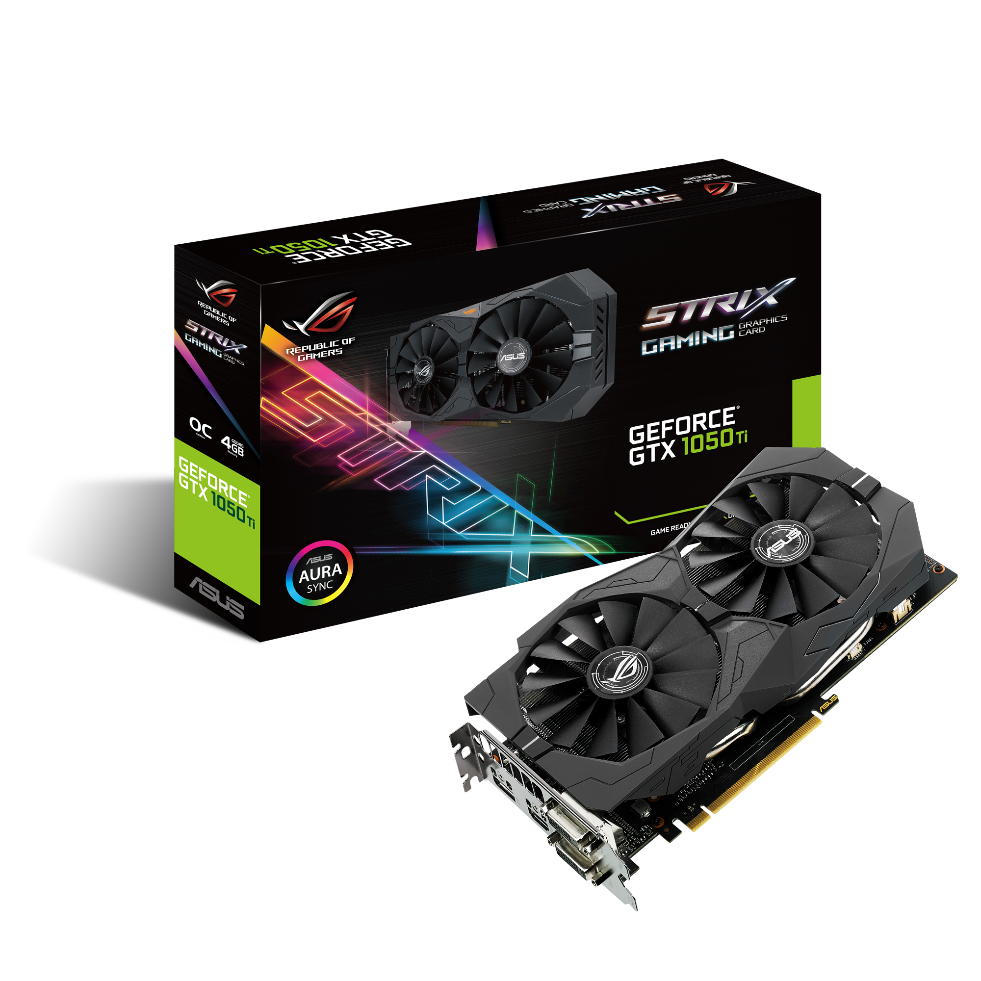 Placa Video ASUS ROG Strix Gaming GeForce GTX 1050Ti OC 4GB GDDR5 128 biti