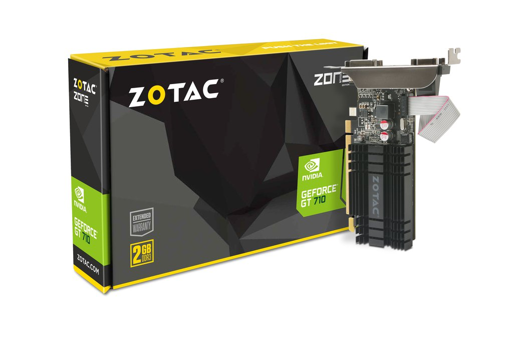 Placa Video Zotac nVidia GeForce GT 710 2GB DDR3 64 biti