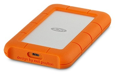 Hard Disk Extern LaCie Rugged USB-C 4TB USB 3.1 Portocaliu