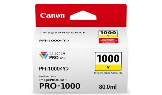 Cartus inkjet Canon PFI1000Y Yellow