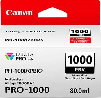 Cartus inkjet Canon PFI1000PBK Black Photo
