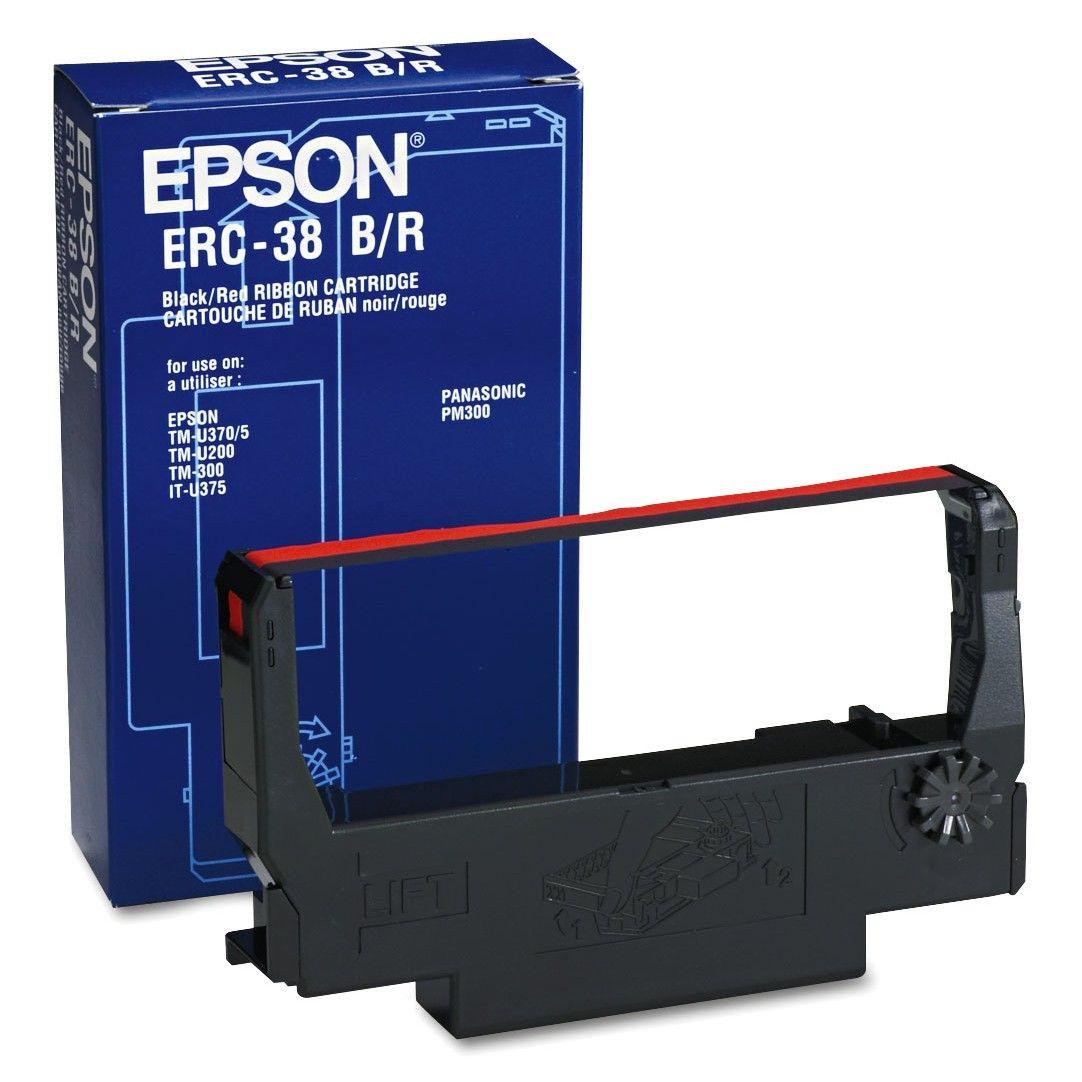 Ribbon Epson ERC38BR Black/Red