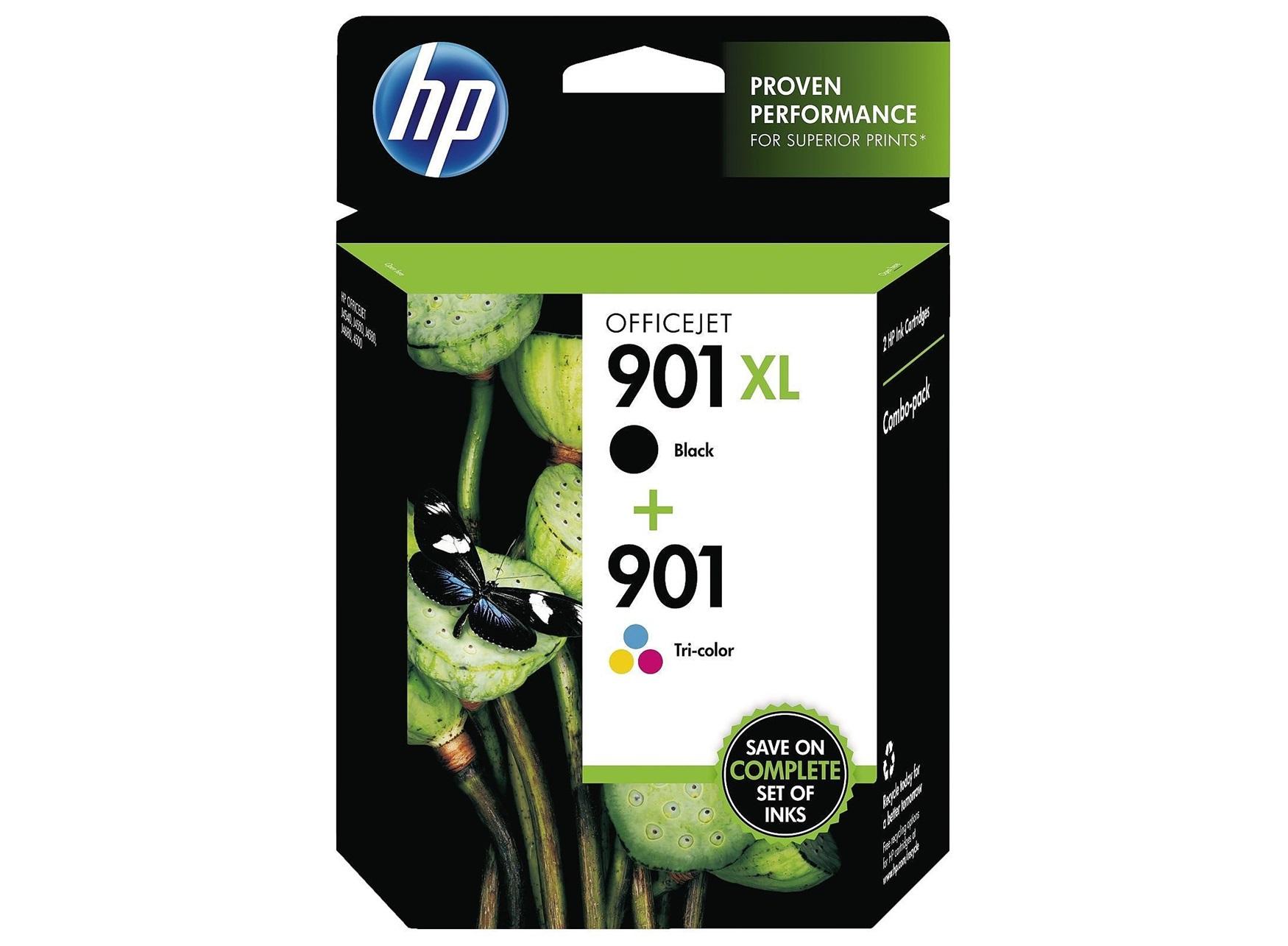 Pachet 2 cartuse Ink HP 901XL-Black+901 color