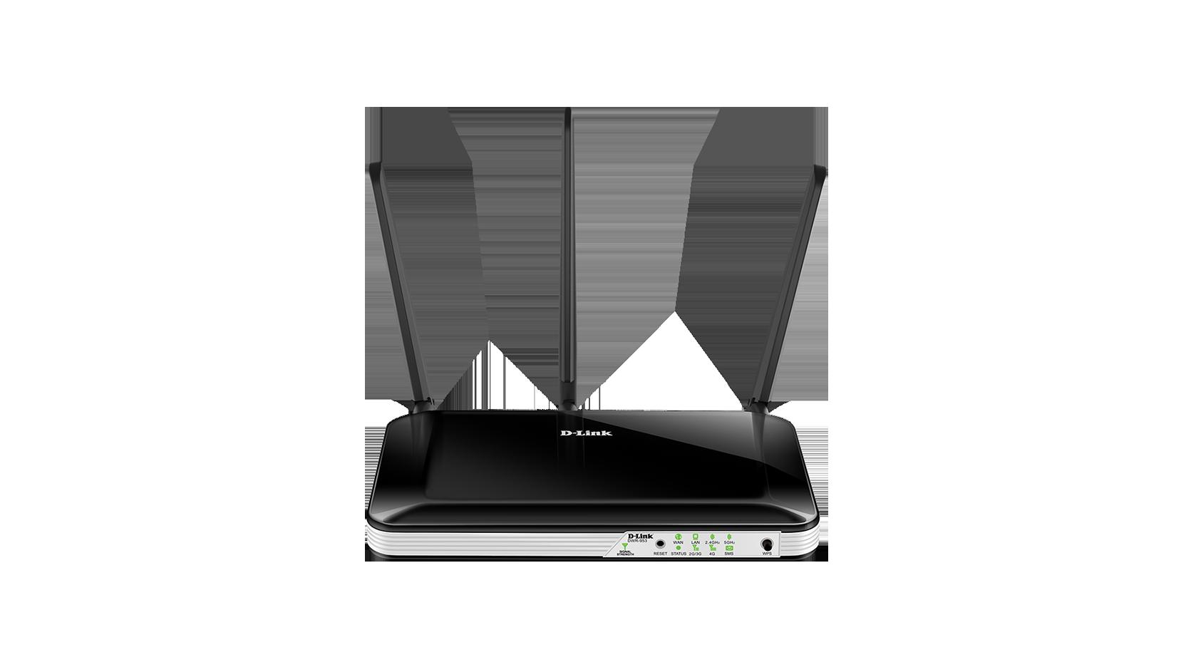 Router D-Link Wireless AC750 4G LTE Multi-WAN modem integrat slot card SIM