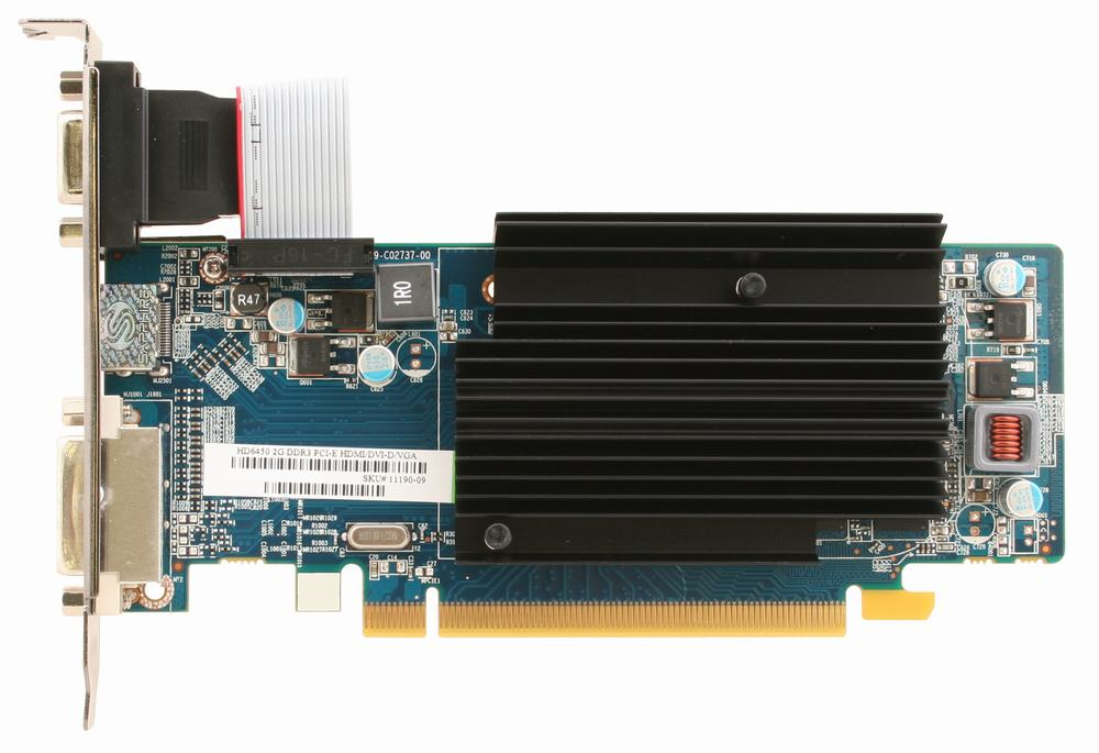Placa video Sapphire Radeon HD6450 2GB DDR3 64 biti (Bulk)