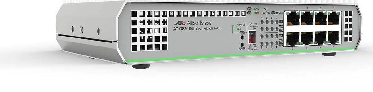 Switch Allied Telesis GS910 8x1000Mbs-RJ45 fara management cu sursa interna