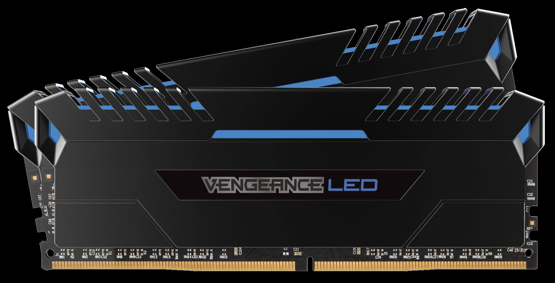 Memorie Desktop Corsair VENGEANCE LED 16 GB (2x8GB) DDR4 3000 MHz CL 15 Blue