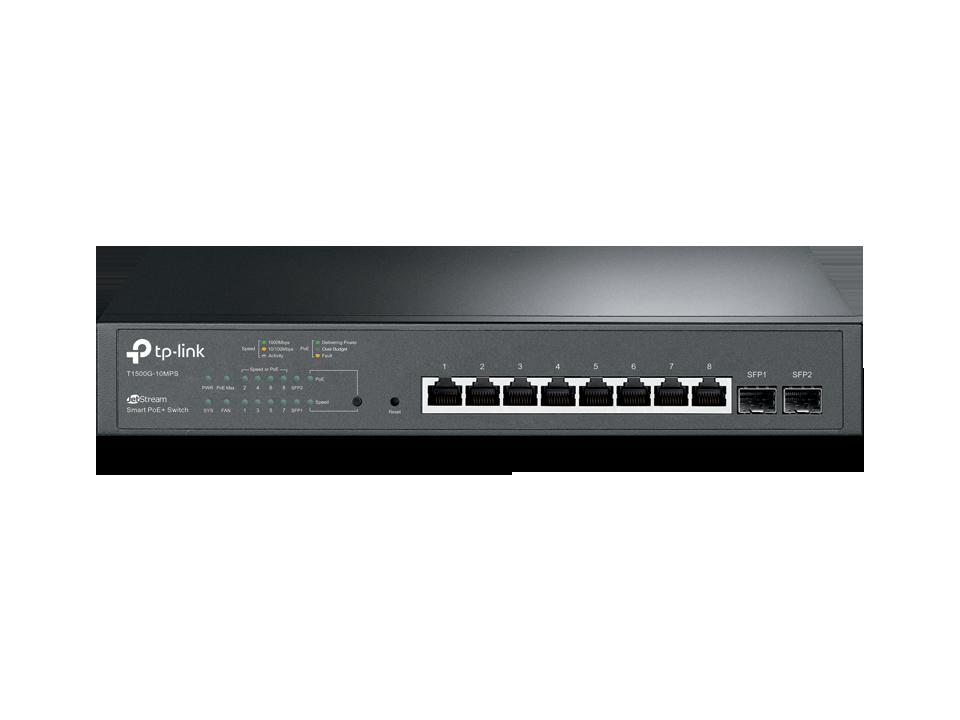 Switch Tp-Link JetStream 8-Port Gigabit Smart PoE+ 2 SFP cu management
