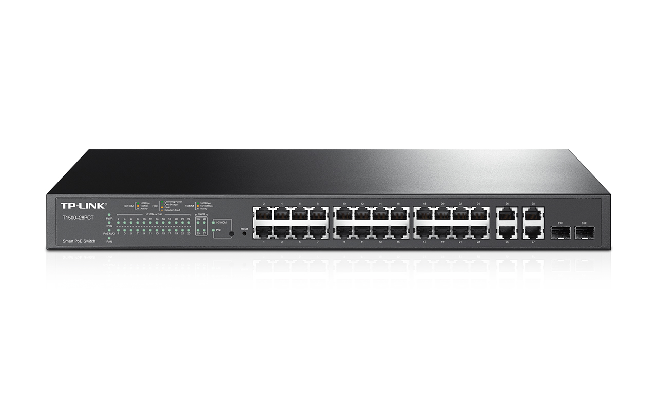 Switch Tp-Link Smart PoE+ 24x100Mbps-RJ45 4xGigabit-RJ45 2 SFP cu management