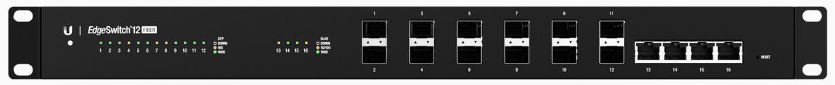 Switch Ubiquiti ES-12F cu management fara PoE 8xSFP + 4xSFP (sau 4x1000Mbps-RJ45)