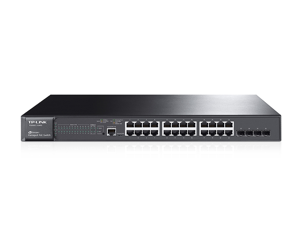 Switch Tp-Link JetStream cu management 24xGigabit PoE+ 4xSFP
