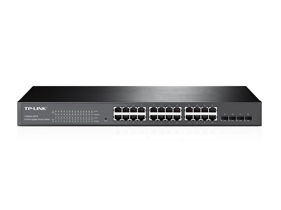 Switch Tp-Link Gigabit Smart cu Management L2 24x1000Mbps-RJ45 4xSFP