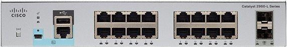 Switch Cisco Catalyst 2960-L cu management 16x1000Mbps-RJ45 2xSFP