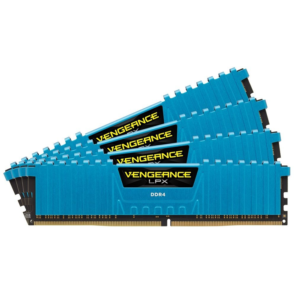 Memorie Desktop Corsair Vengeance LPX 16GB (4 x 4GB) DDR4 2133MHz Blue