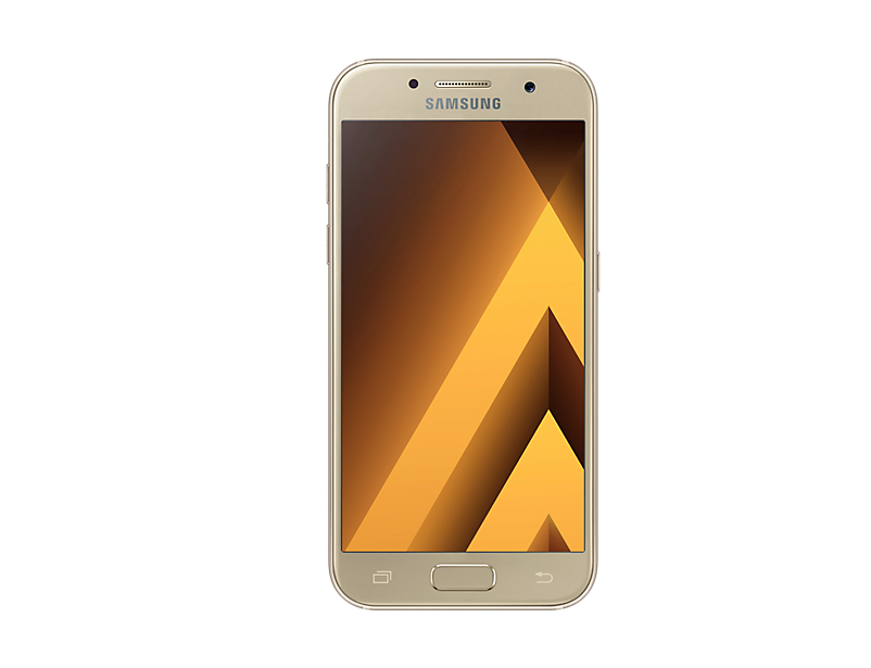 Telefon Mobil Samsung A320 Galaxy A3 (2017) 16GB Flash 2GB RAM Single SIM 4G Gold Sand