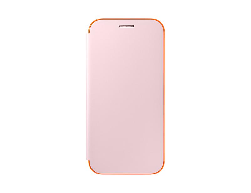 Husa Samsung Neon Flip Cover pentru Galaxy A5 2017 (A520) Roz