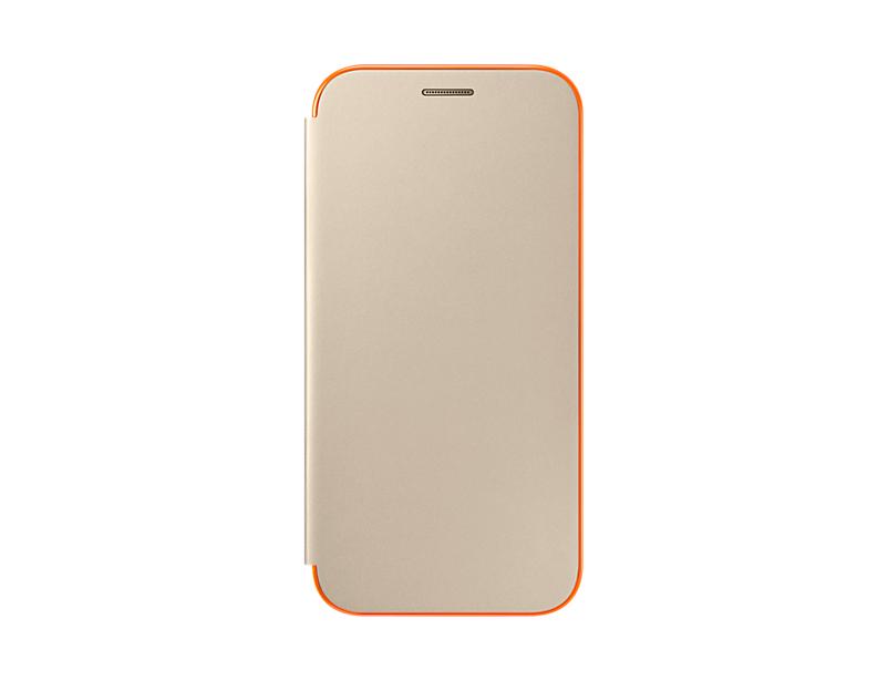 Husa Samsung Neon Flip Cover pentru Galaxy A5 2017 (A520) Auriu