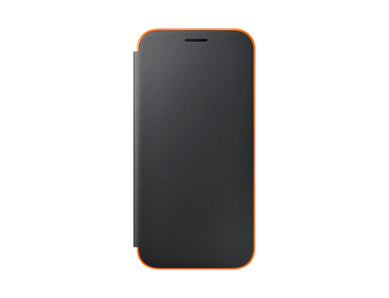 Husa Samsung Neon Flip Cover pentru Galaxy A5 2017 (A520) Negru