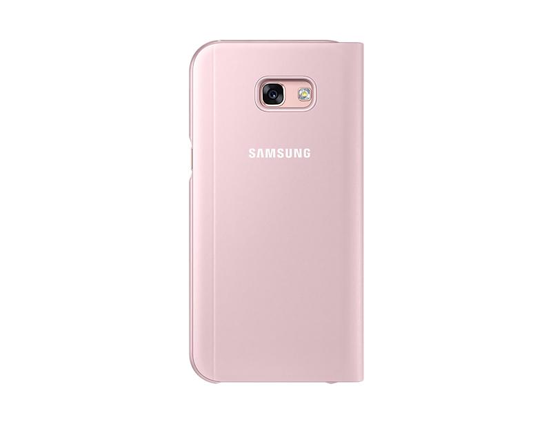 Husa Samsung S-View Cover pentru Galaxy A5 2017 (A520) Roz