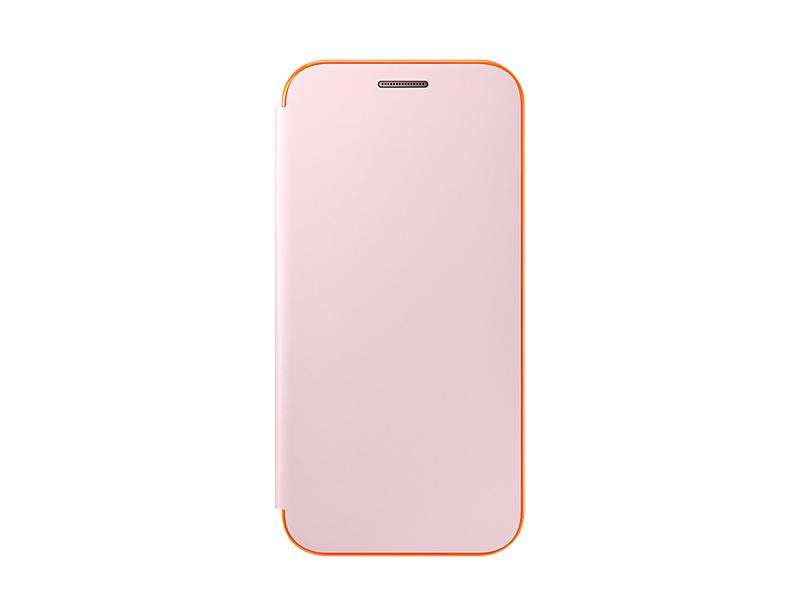 Husa Samsung Neon Flip Cover pentru Galaxy A3 2017 (A320) Roz