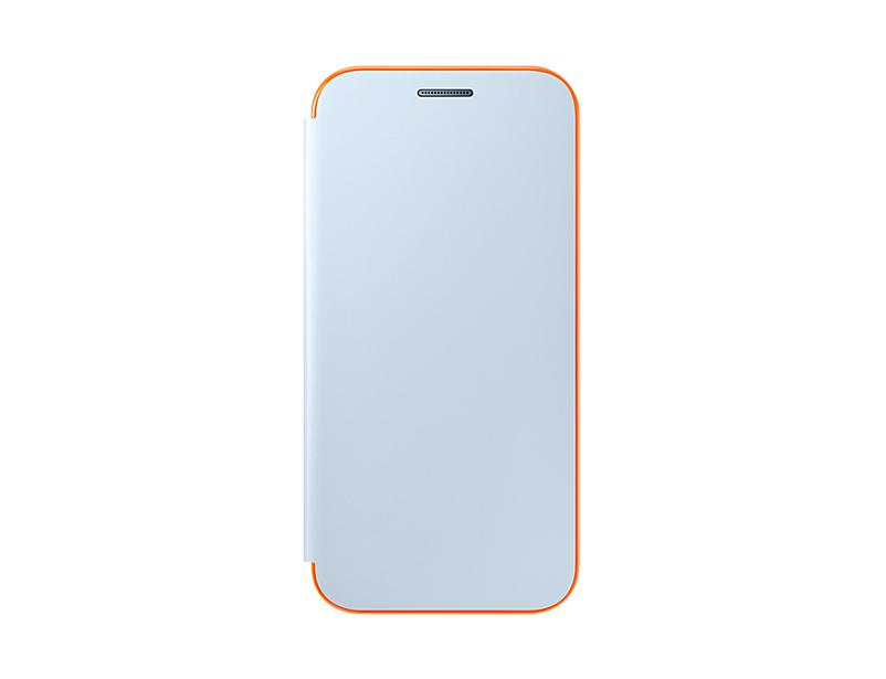 Husa Samsung Neon Flip Cover pentru Galaxy A3 2017 (A320) Albastru
