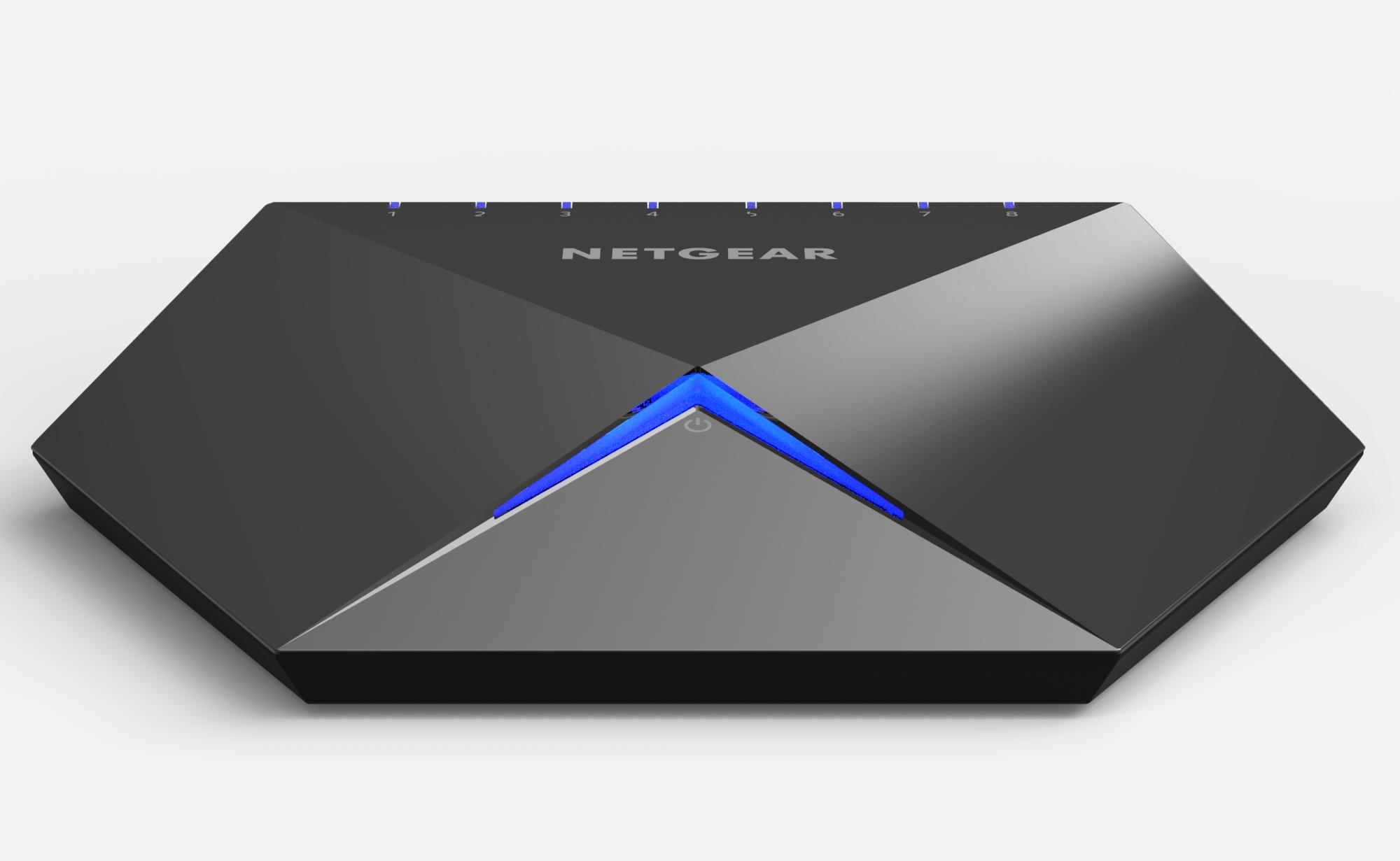 Switch Netgear Nighthawk S8000 Gaming & Streaming cu management fara PoE 8x1000Mbps-RJ45