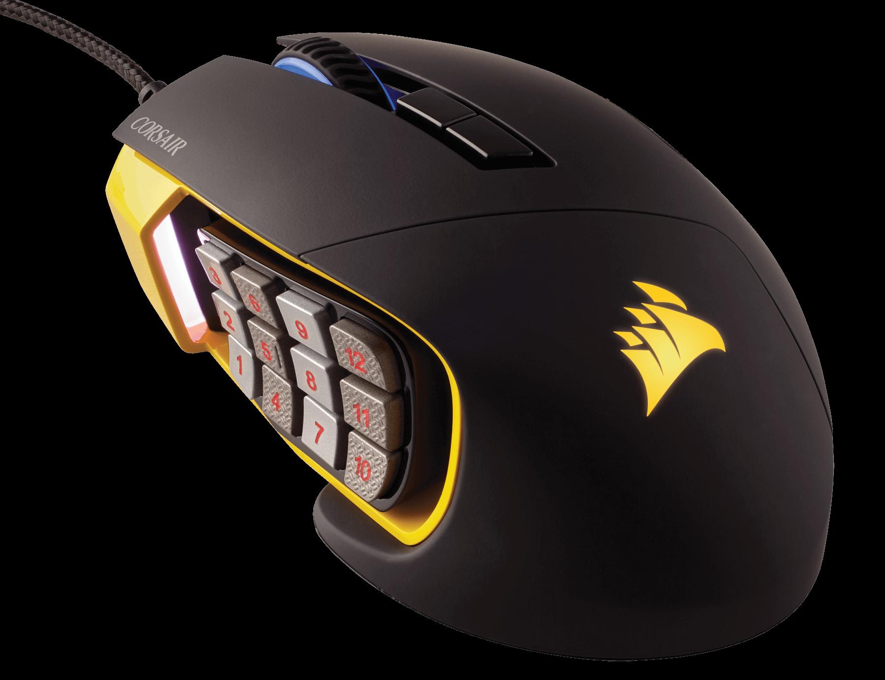 Mouse Gaming Corsair Scimitar PRO RGB Moba Yellow