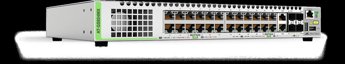 Switch Allied Telesis CentreCom GS924MX cu management L3 stackabil 24x1000Mbps-RJ45 2xCombo-RJ45/SFP 2xSFP+ fara PoE