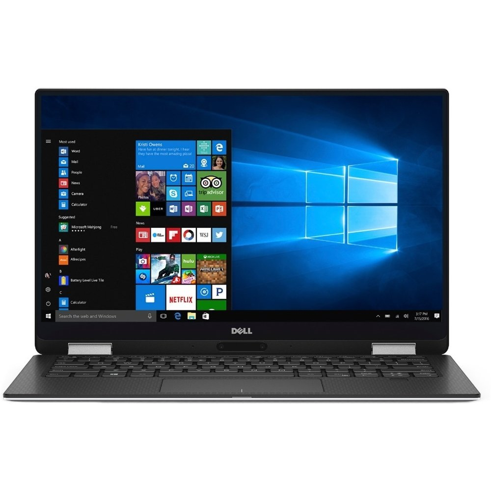 Ultrabook Dell XPS 13 9365 13.3 QHD+ Touch Intel Core i7-7Y75 RAM 8GB SSD 512GB Windows 10 Pro Argintiu