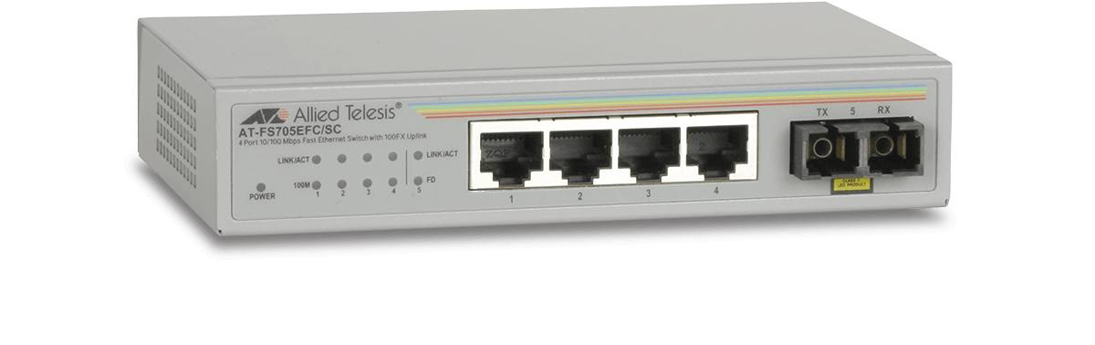 Switch Allied Telesis AT-FS705EFC/SC fara management 4x100Mbps-RJ45 1 x 100FX(SC)