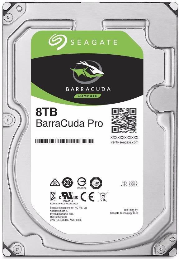 Hard Disk Desktop Seagate BarraCuda PRO 8TB 7200RPM SATA III 3.5