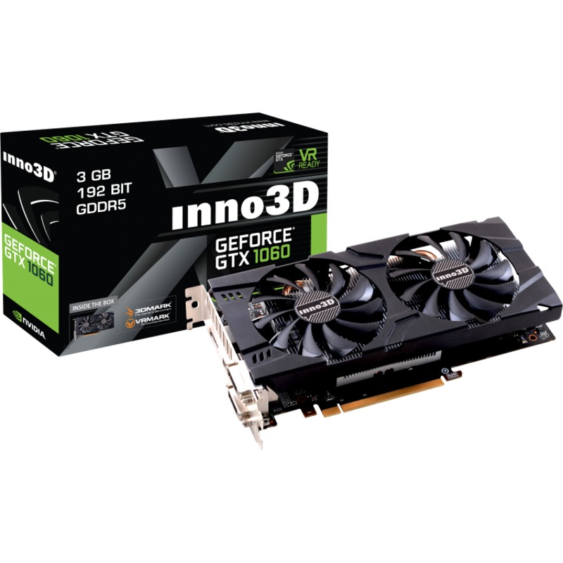 Placa Video Inno3D GeForce GTX 1060 X2 3GB GDDR5 192 biti