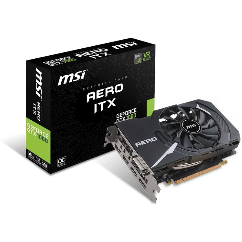 Placa Video MSI GeForce GTX 1060 Aero ITX OC 6GB GDDR5 192 biti